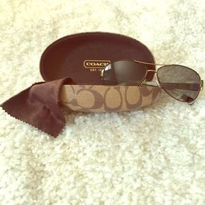 Coach Aviator Sunglasses- Kristina